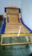 Photo: rete alzata testa e piedi manuale indipendente legno ammortizzatori e regolatori rigidità doghe