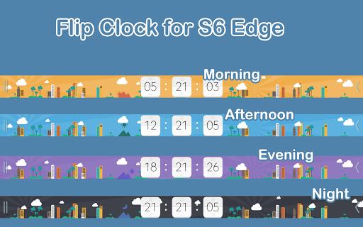 Flip Clock for S6 Edge Plus