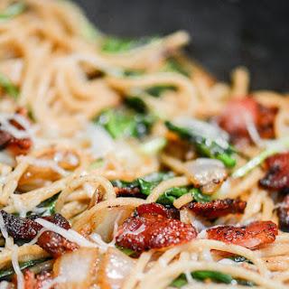 Bacon Spaghetti Florentine.