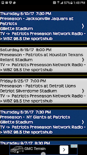 Schedule New England Patriots - náhled
