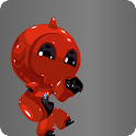 Red Robot Running icon