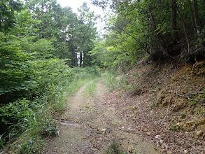 地図に記載された林道と出合(良い道に)