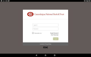 Screenshot of CNB Mobile Online Banking