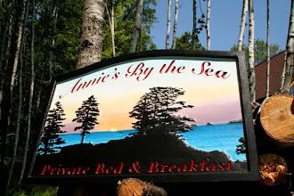 Photo: Bed n Breakfast Carved Sign in Kodiak Island Alaska, see more at http://www.nicecarvings.com