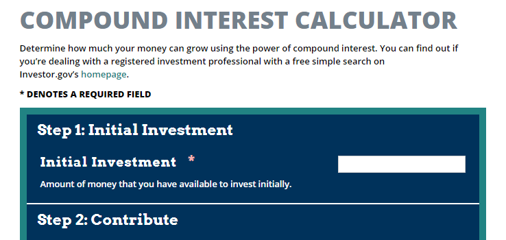 Investor.gov Investment Calculator