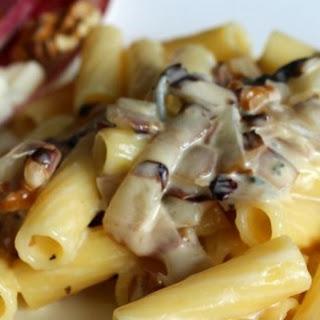 Pasta with Gorgonzola Sauce and Radicchio.
