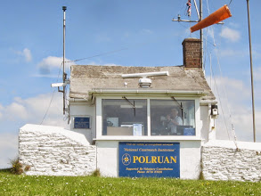 Photo: Passing Polruan coast watch station ...