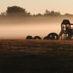 Playground Fog by Pat Brink - Landscapes Weather (  )