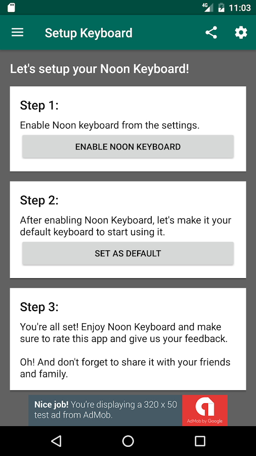 Noon Keyboard (Arabic)- screenshot