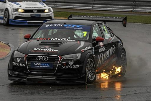 Michael Stephen clinched the Sasol Global Touring Cars championship in his Audi.   Picture: MOTORPRESS