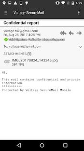 Voltage SecureMail - náhled