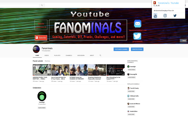 Fanominals Youtube