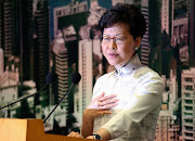 Hong Kong chief executive Carrie Lam speaks at a news conference in Hong Kong, China, on June 15 2019.