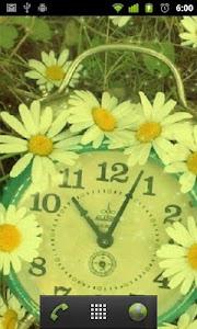 flower clock live wallpaper screenshot 1