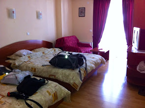 Photo: Our room at Villa Dislieski in Ohrid.