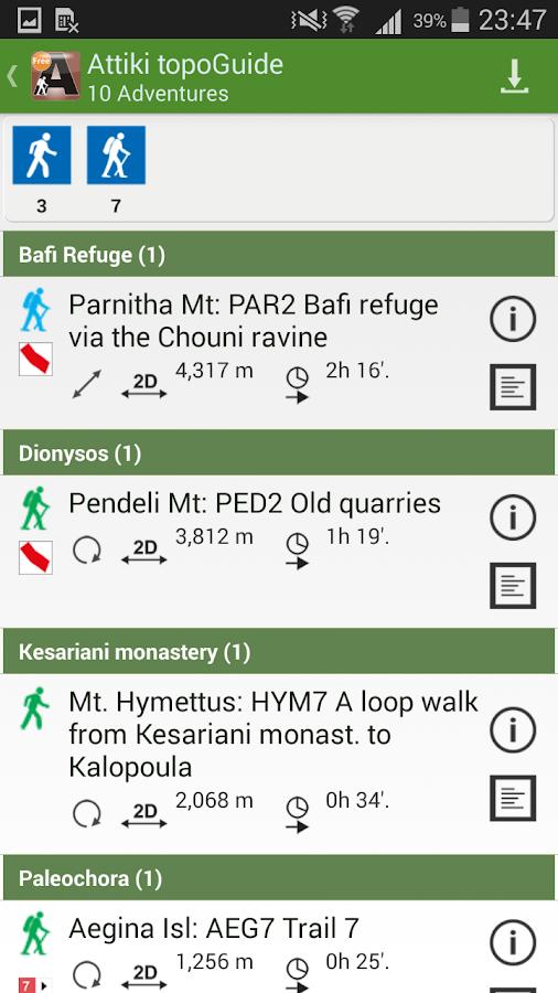 Πεζοπορία στην Αττική - στιγμιότυπο οθόνης