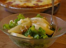 Salad With Prosciutto And Caramelized Pears And Walnuts Recipe