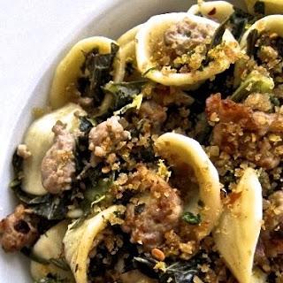 Orecchiette with Kale, Turkey Sausage and Gremolata Breadcrumbs