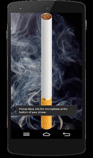 Smoking virtual cigarette