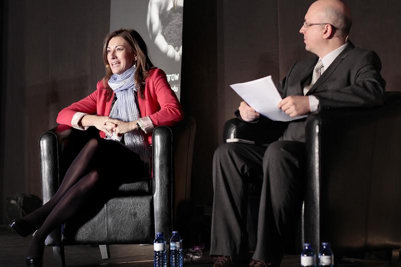 Photo: Ana Sainz, Directora General de la Fundación Seres, y Steven Poelmans, Director del Coaching Competency Center de EADA