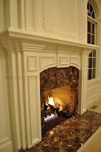 Photo: (After) Tocco's Mantle and over-Mantle Marble surround Emperador Dark Moorestown, NJ