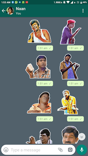 Vadivelu Sticker for Whatsapp: Tamil for PC