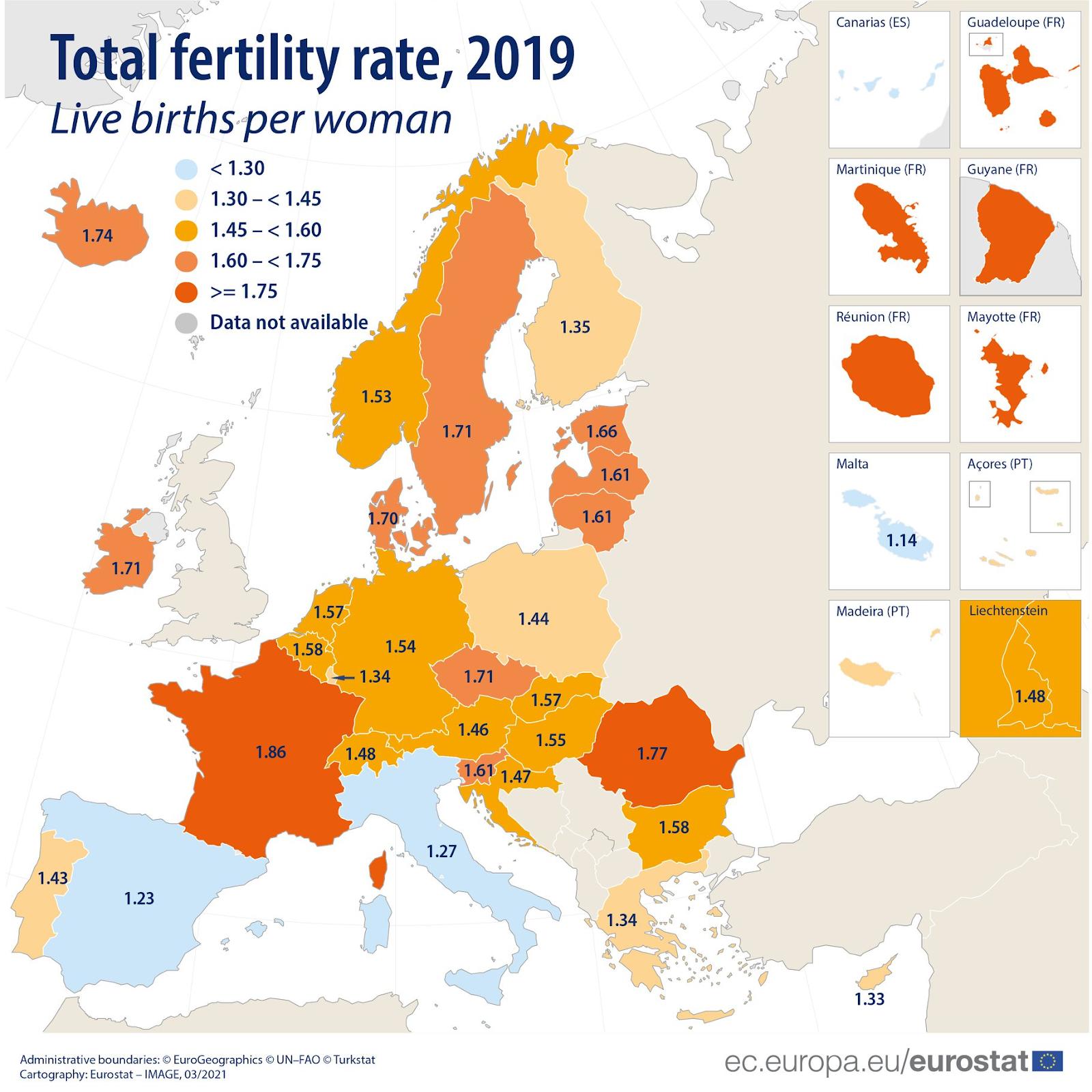 Wskaźnik dzietności w UE