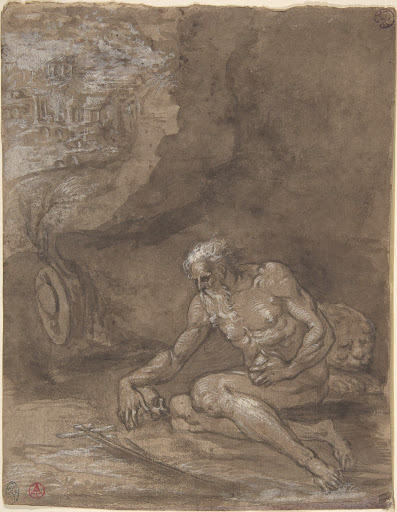 Saint Jerome Praying in a Landscape.