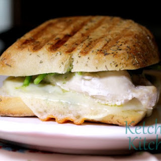 Grilled Chicken Pesto Panini Sandwiches.