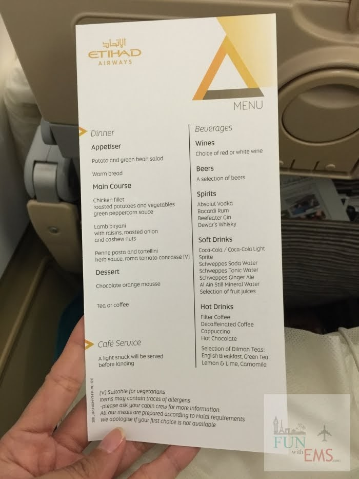 Flying with Etihad