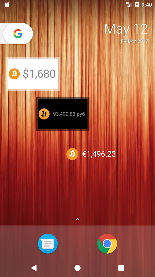 Simple Bitcoin Widget- screenshot