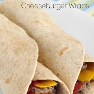 Low Carb Cheeseburger Wraps.