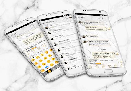 Marble White SMS Zprávy - náhled
