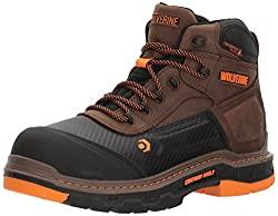 """Wolverine Men's Overpass 6"""" Composite Toe Waterproof Work Boot"""