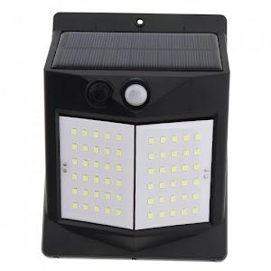 Set 3 x Lampa solara 80 LED cu senzor de miscare