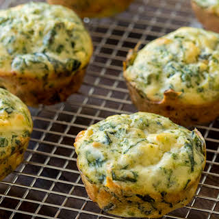 Spinach And Feta Cheese Muffins.