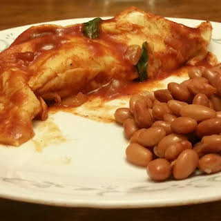 Potato and Mushroom Enchiladas.