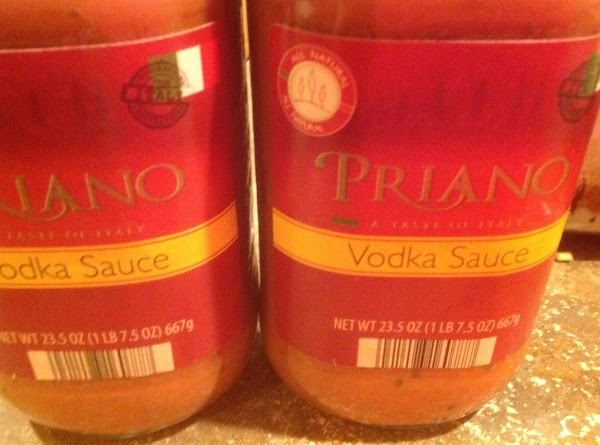 Now add half of Pasta Sauce. I'm showing 2 jars but I decided to...