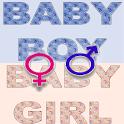 Sweet baby girl boy name icon