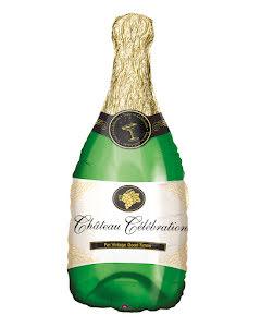 Folieballong, champagneflaska