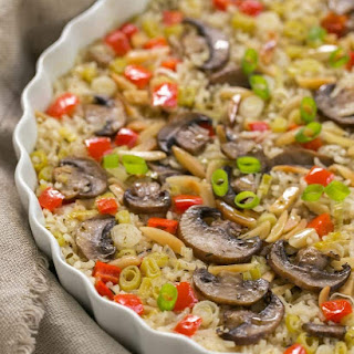 Italian Rice Pilaf with Toasted Almonds.