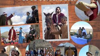 Cartel anunciador de la recreación histórica en Tahal.