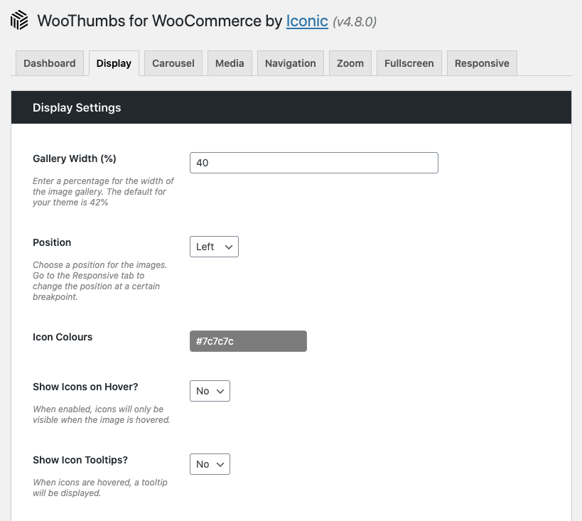 WooThumbs settings