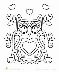 Valentine Coloring page of a bat from education