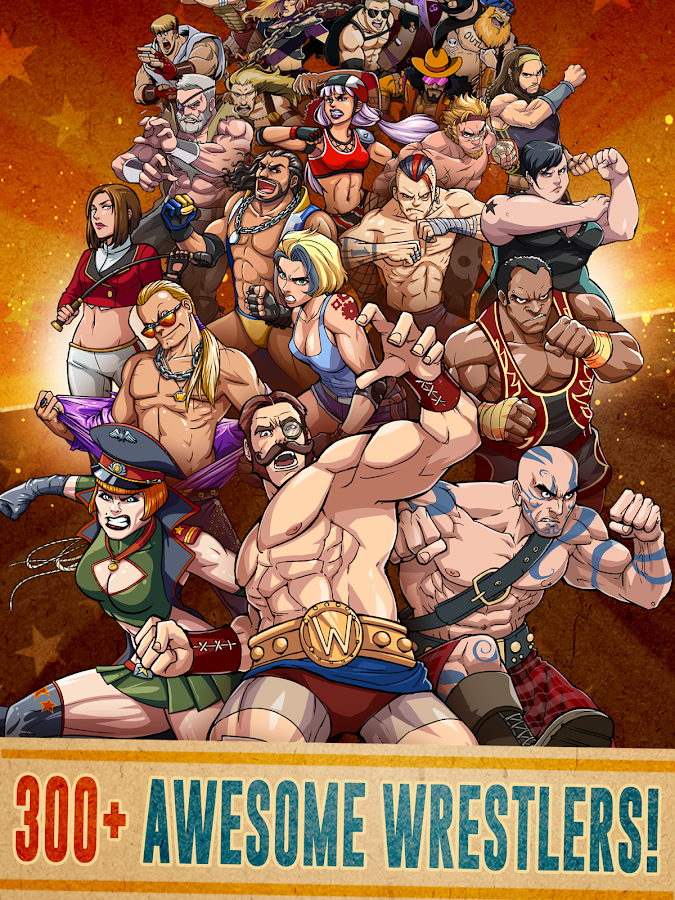 The Muscle Hustle: Slingshot Wrestling- screenshot