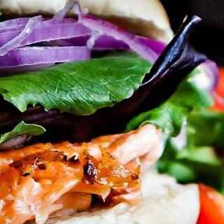 Salmon Sandwich with Layered Potato and Barley Bake
