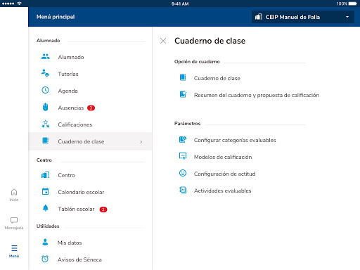 Versión de Séneca para smartphone y tabletas. screenshot 18