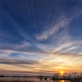 Sunset on Vättern lake (Sweden) by Bruno Canon Eos - Uncategorized All Uncategorized