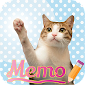 Cat Sticky Memo Notepad