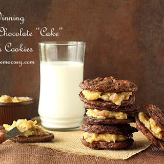 "Award-Winning German Chocolate ""Cake"" Sandwich Cookies"